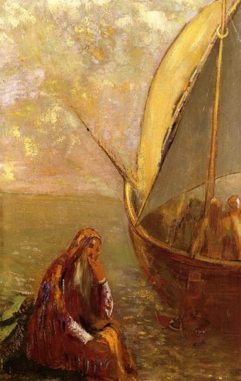 The Departure | Odilon Redon | oil painting