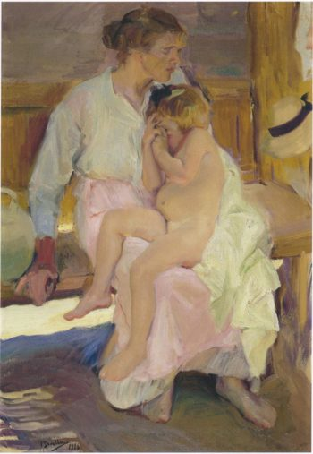 Mother and Daughter Valencia Beach | Joaquin Sorolla y Bastida | oil painting
