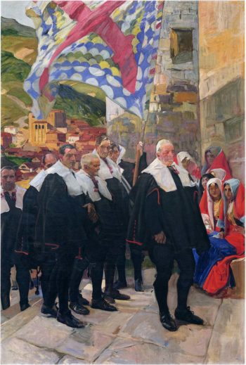 Navarre the Town Council of Roncal | Joaquin Sorolla y Bastida | oil painting