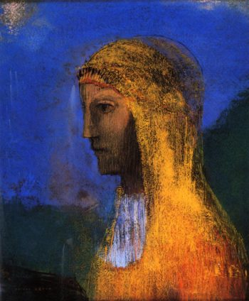 The Druidess | Odilon Redon | oil painting