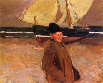 Old Valencian Fisherman | Joaquin Sorolla y Bastida | oil painting