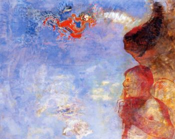 The Fallen Angel | Odilon Redon | oil painting
