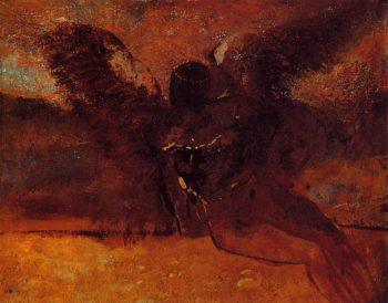 The Fall of Icarus | Odilon Redon | oil painting