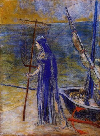 The Fisherwoman | Odilon Redon | oil painting
