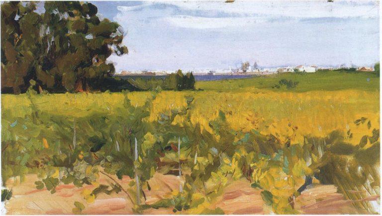 Outskirts of Seville | Joaquin Sorolla y Bastida | oil painting