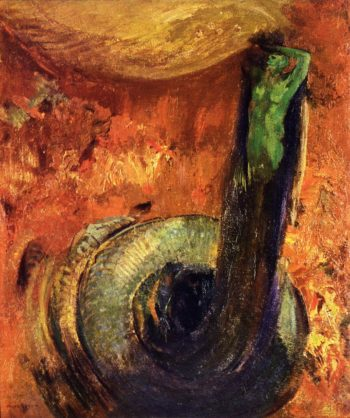 The Green Death | Odilon Redon | oil painting