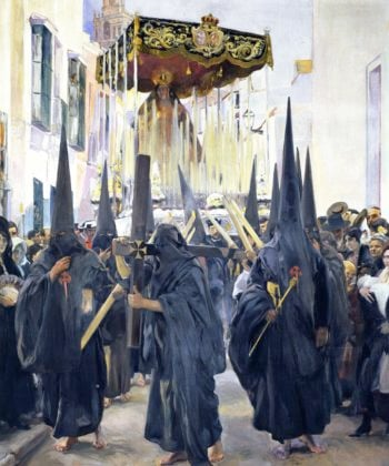 Penitents Holy Week Seville | Joaquin Sorolla y Bastida | oil painting