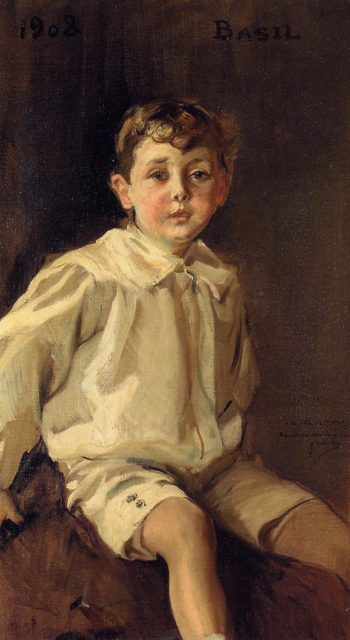 Portrait of Basel Mundy | Joaquin Sorolla y Bastida | oil painting