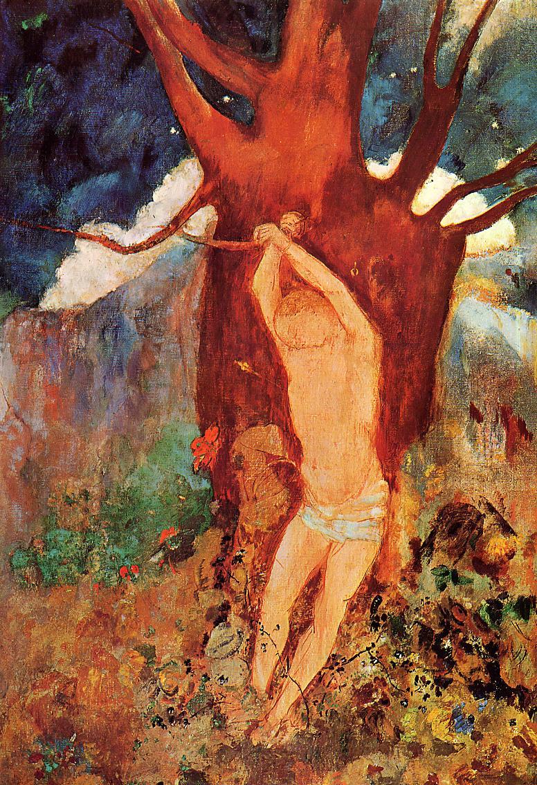 The Martyrdom of Saint Sebastian   Odilon Redon   oil painting
