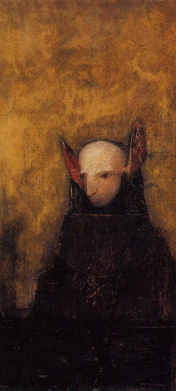 The Monster   Odilon Redon   oil painting