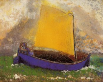 The Mysterious Boat 1 | Odilon Redon | oil painting