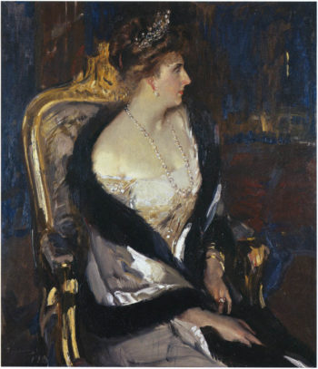Queen Victoria Eugenia of Spain | Joaquin Sorolla y Bastida | oil painting