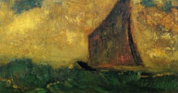 The Mysterious Boat 2 | Odilon Redon | oil painting
