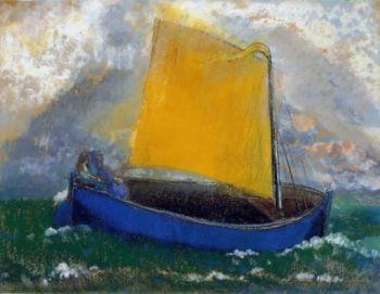 The Mysterious Boat | Odilon Redon | oil painting