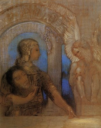 The Mystical Knight | Odilon Redon | oil painting