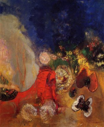 The Red Sphinx | Odilon Redon | oil painting