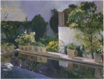 Reservoir at the Alcazar in Seville | Joaquin Sorolla y Bastida | oil painting
