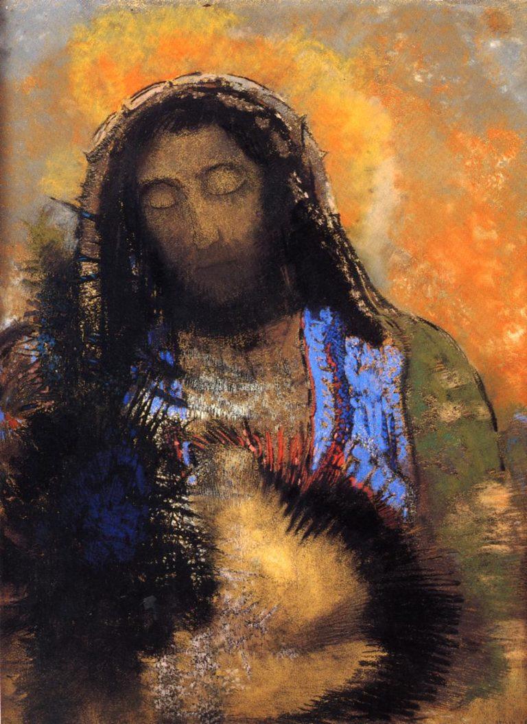 The Sacred Heart | Odilon Redon | oil painting