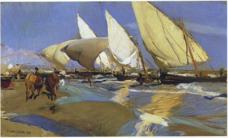 Return From Fishing | Joaquin Sorolla y Bastida | oil painting