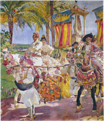 Riding en Croupe Valencia | Joaquin Sorolla y Bastida | oil painting