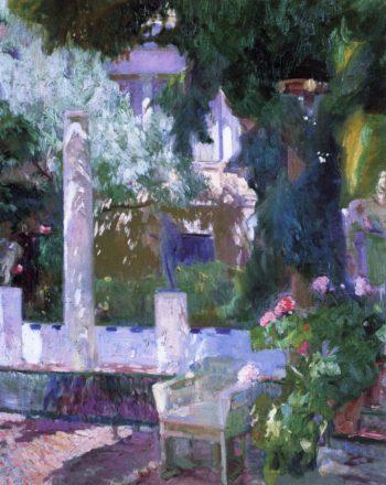Rose Bush at the Sorolla House | Joaquin Sorolla y Bastida | oil painting