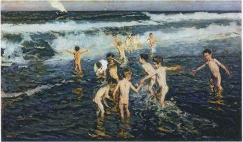 Sad Inheritance Study | Joaquin Sorolla y Bastida | oil painting