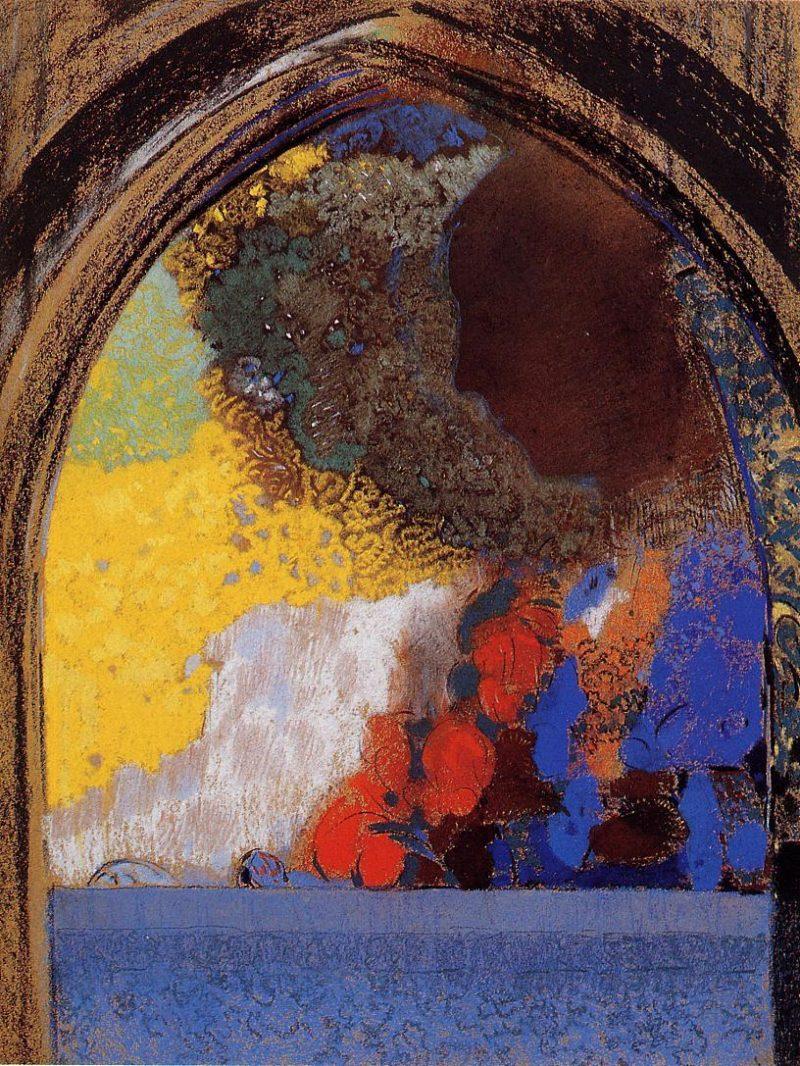 The Window | Odilon Redon | oil painting