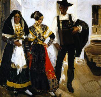 Salamancan Types | Joaquin Sorolla y Bastida | oil painting