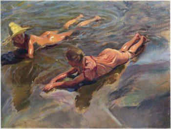 Sea Idyll | Joaquin Sorolla y Bastida | oil painting
