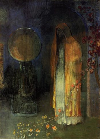 The Yellow Cape | Odilon Redon | oil painting