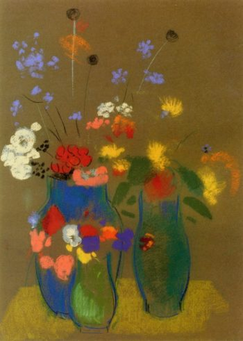 Three Vases of Flowers 1 | Odilon Redon | oil painting