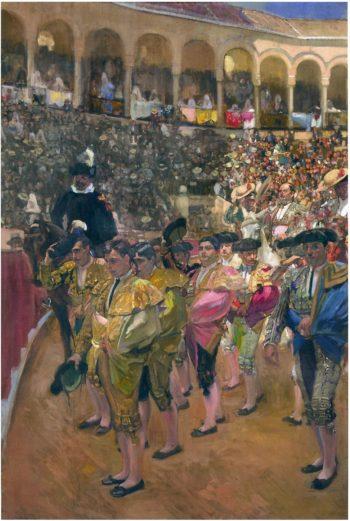Seville the Bullfighters | Joaquin Sorolla y Bastida | oil painting