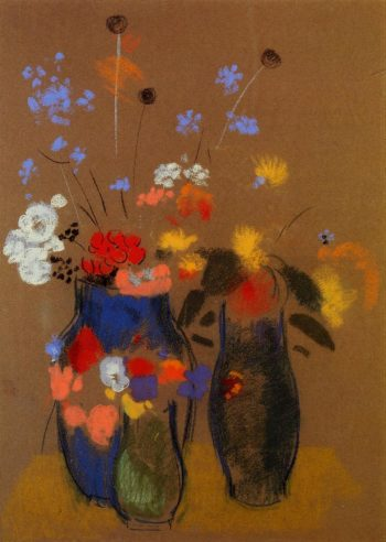 Three Vases of Flowers | Odilon Redon | oil painting