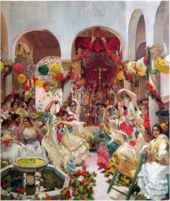Seville the Dance | Joaquin Sorolla y Bastida | oil painting