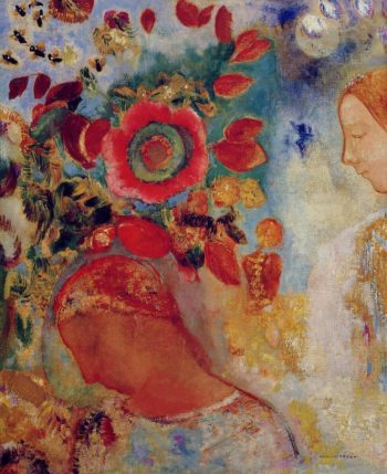 Two Young Girls among Flowers | Odilon Redon | oil painting