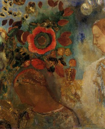 Two Young Girls among the Flowers | Odilon Redon | oil painting