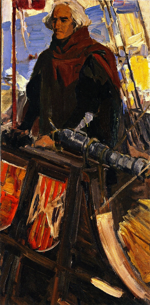 Study for The Departure of Christopher Columbus from the Port of Palos on the 3 August 1492 | Joaquin Sorolla y Bastida | oil painting