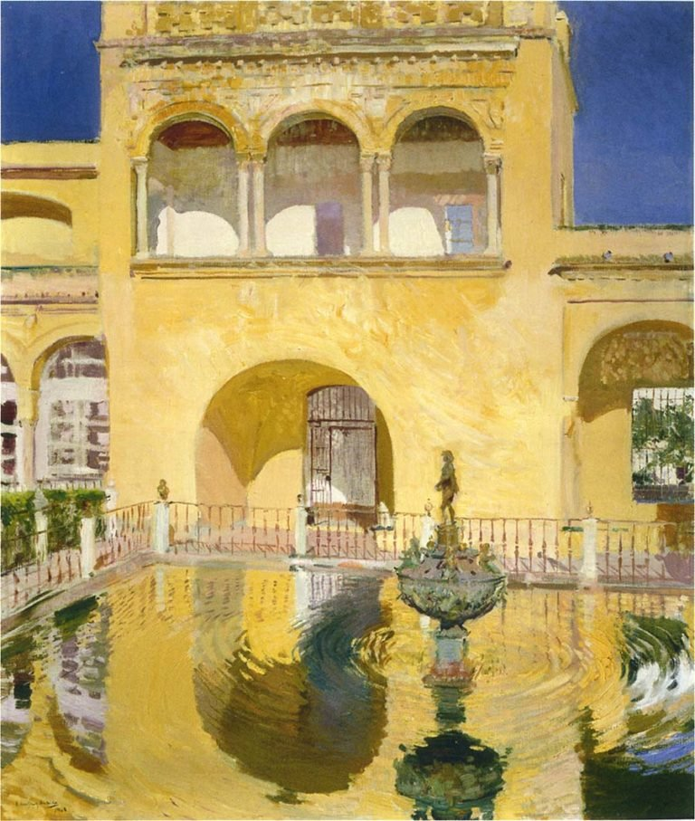 The Alcazar at Seville | Joaquin Sorolla y Bastida | oil painting