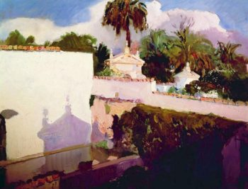 The Alcazar   Joaquin Sorolla y Bastida   oil painting