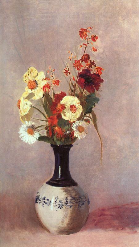 Vase of Flowers 10   Odilon Redon   oil painting