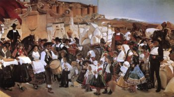 The Bread Fiesta | Joaquin Sorolla y Bastida | oil painting
