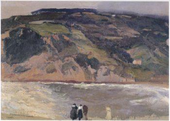 The Breakwater at San Sebastian | Joaquin Sorolla y Bastida | oil painting