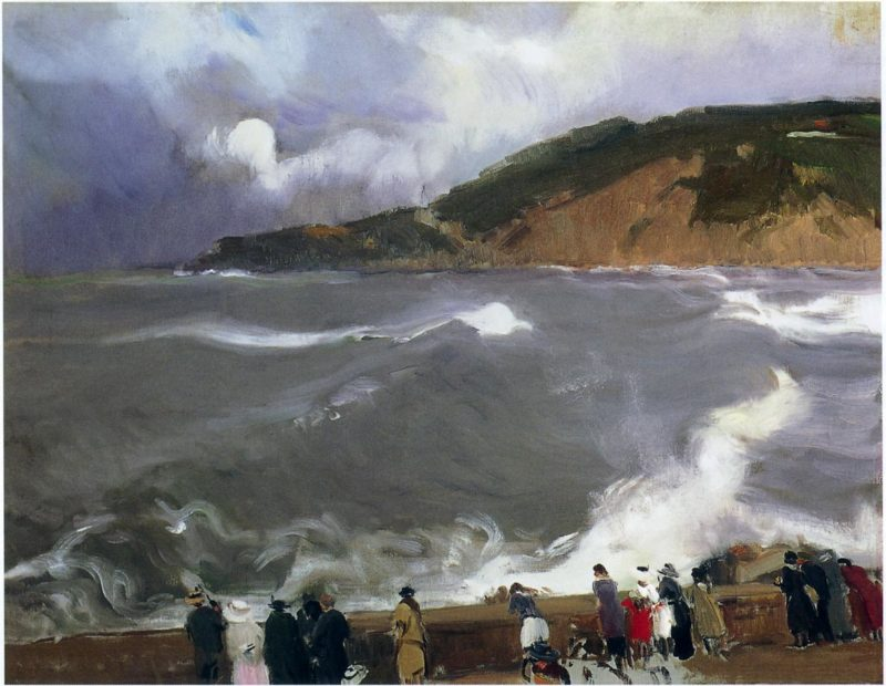 The Breakwater of San Sebastian | Joaquin Sorolla y Bastida | oil painting