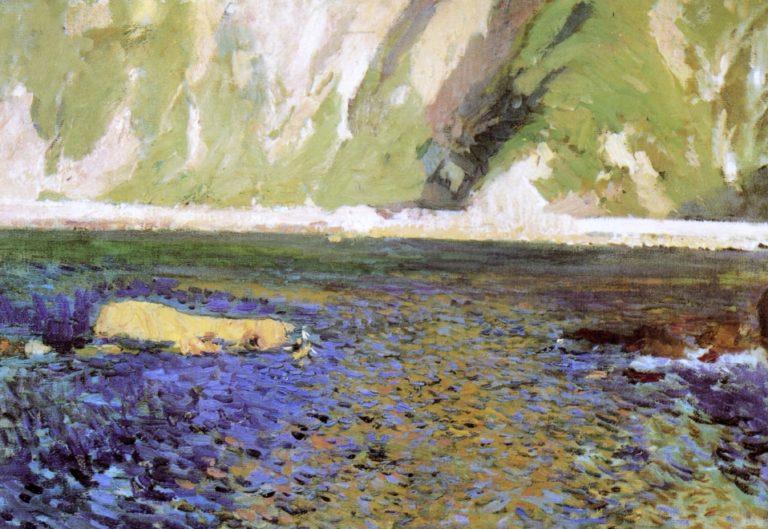 The Coast near San Sebastian   Joaquin Sorolla y Bastida   oil painting