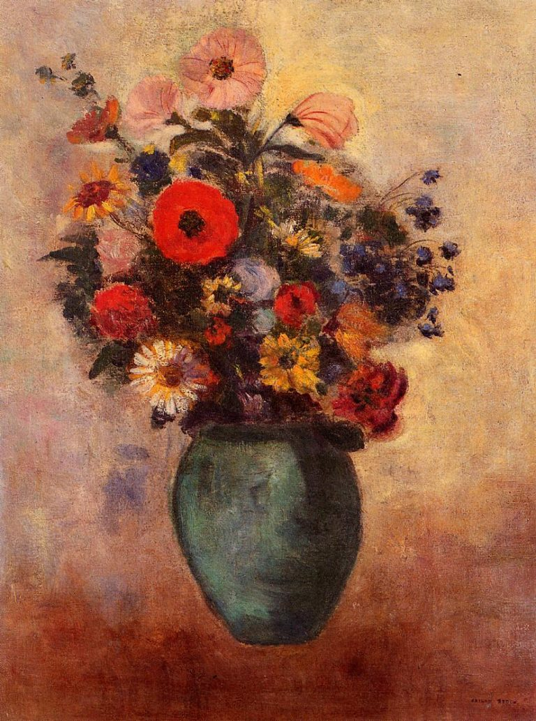 Vase of Flowers 2 | Odilon Redon | oil painting