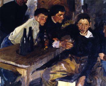 The Drunkard Zarauz | Joaquin Sorolla y Bastida | oil painting