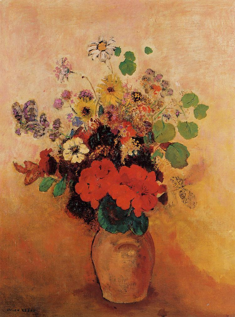 Vase of Flowers 6 | Odilon Redon | oil painting