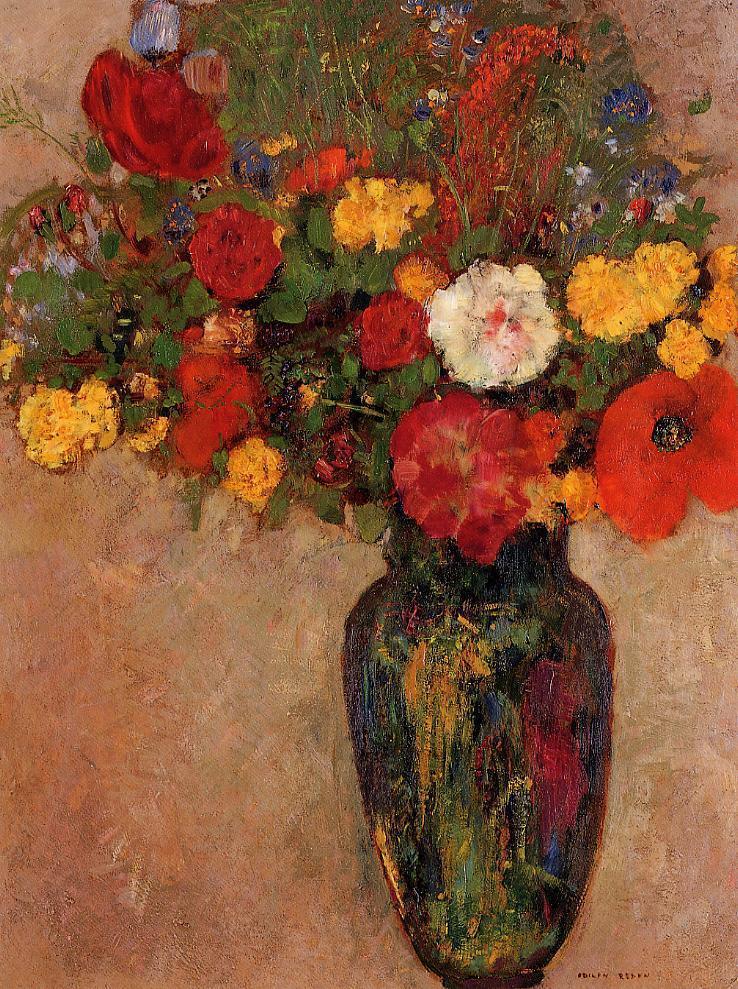 Vase of Flowers 7   Odilon Redon   oil painting