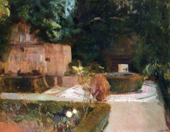 The Los Adarves Gardens The Alhambra Granada | Joaquin Sorolla y Bastida | oil painting