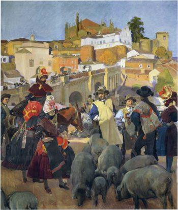 The Market | Joaquin Sorolla y Bastida | oil painting